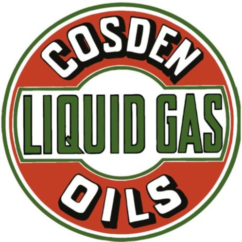 Cosden Liquid Gas Oils Sign