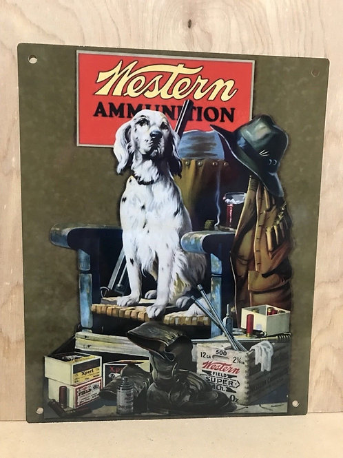 Western Shooting Ammunition Vintage Sign