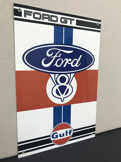 FORD GT GULF RACING REPRODUCTION SIGN