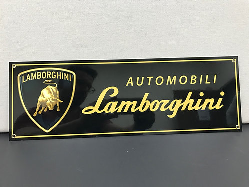 LAMBORGHINI BLACK REPRODUCTION SIGN