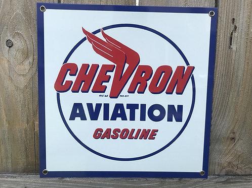 Chevron Aviation Gasoline Sign