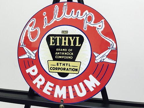 BILLUPS ETHYL AVIATION GASOLINE REPRODUCTION SIGN