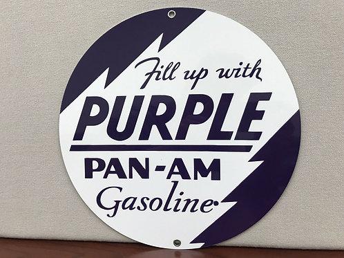 Pan Am Purple Oil Sign