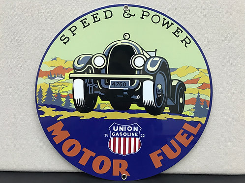 UNION MOTOR FUEL REPRODUCTION SIGN