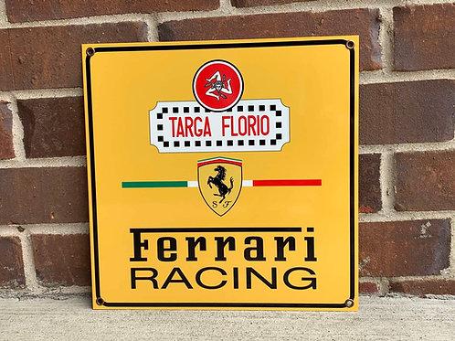 Targa Florio Ferrari Racing Tribute Sign