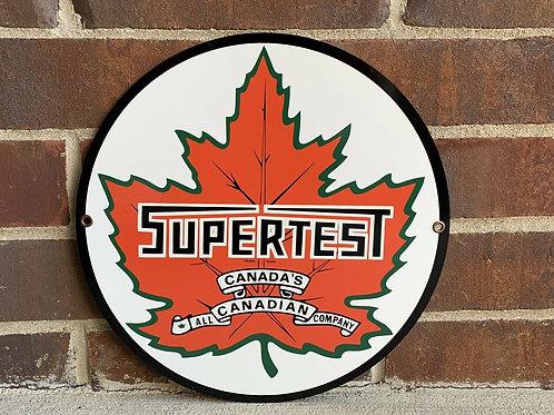 Supertest Canada Gasoline Sign