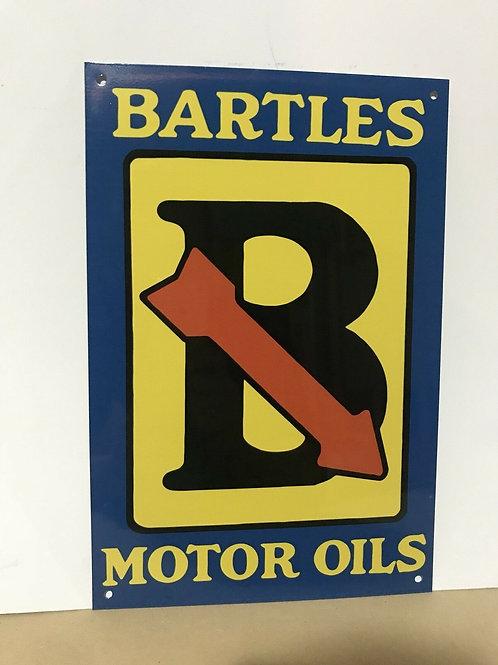 Bartles Motor Oil Vintage Sign