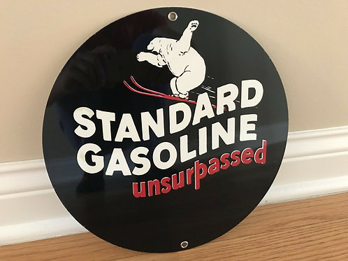 Standard Gasoline Unsurpassed Sign