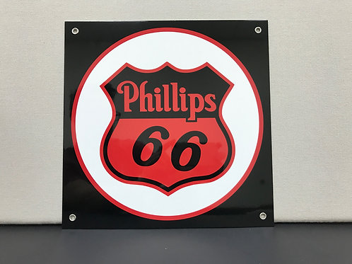 PHILLIPS 66 BLACK REPRODUCTION SIGN
