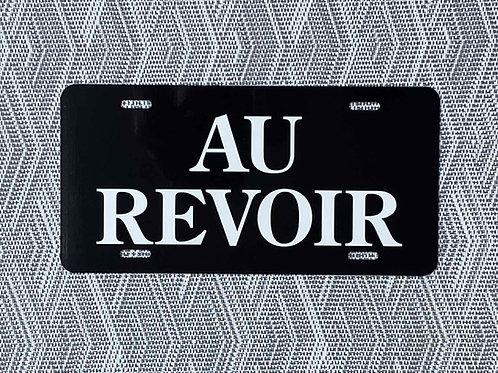 Au Revoir License Plate