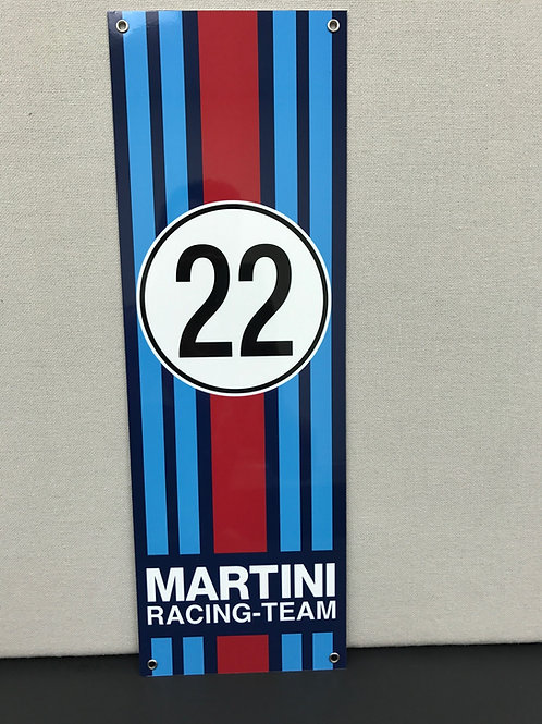 MARTINI 22 RACING TEAM REPRODUCTION SIGN