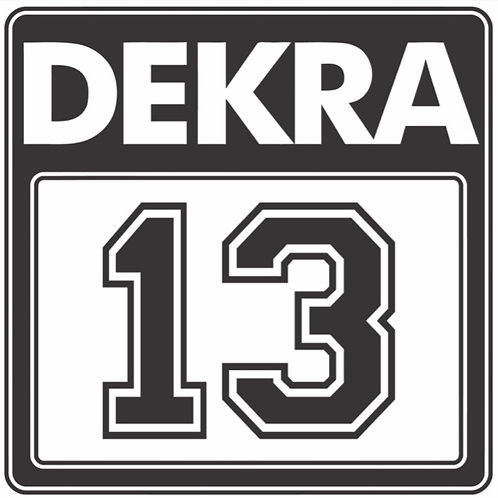 DEKRA RACING 13 BLACK REPRODUCTION SIGN