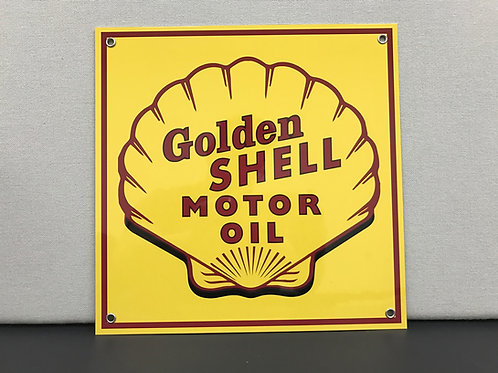 GOLDEN SHELL MOTOR OIL REPRODUCTION SIGN