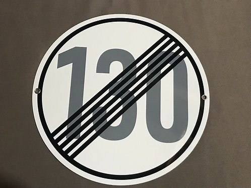 Autobahn Road Sign End Of 130 km/h Limit