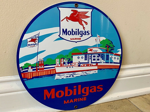Mobilgas Marine Vintage Sign