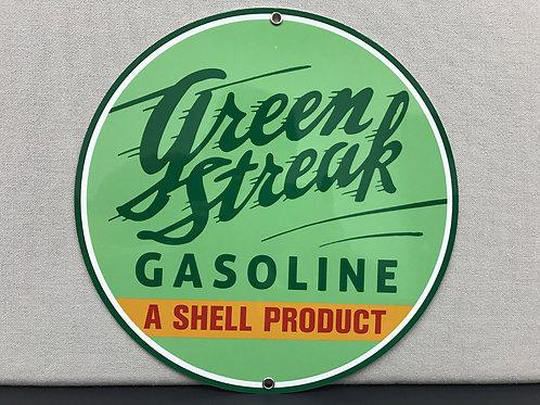 SHELL GREEN STREAK GASOLINE REPRODUCTION SIGN