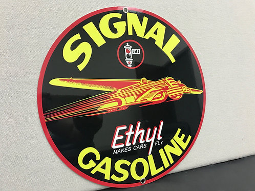 SIGNAL ETHYL GASOLINE REPRODUCTION SIGN