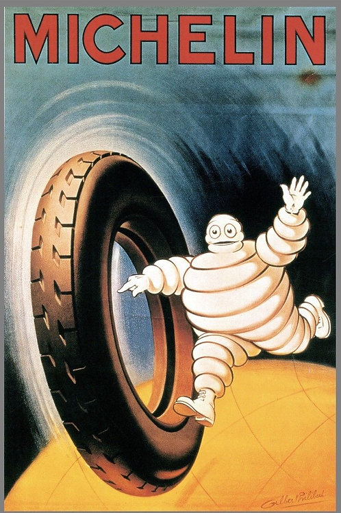 MICHELIN TIRE METAL REPRODUCTION POSTER