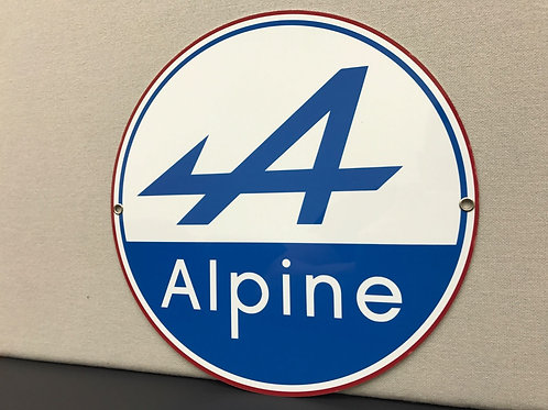 ALPINE RENAULT REPRODUCTION SIGN