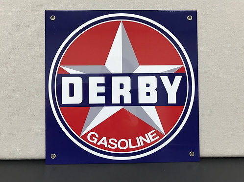 DERBY GASOLINE REPRODUCTION SIGN
