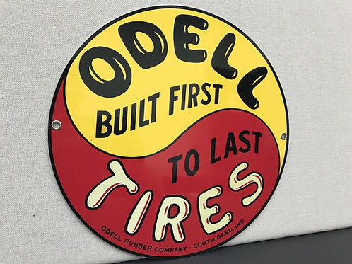 ODELL TIRES REPRODUCTION SIGN