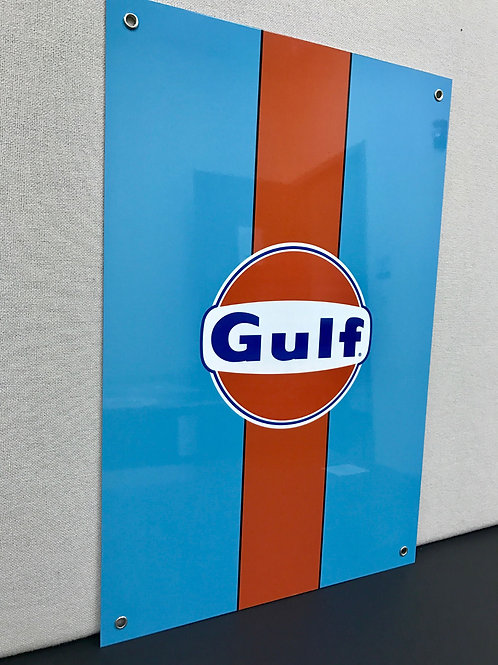 GULF RACING REPRODUCTION SIGN