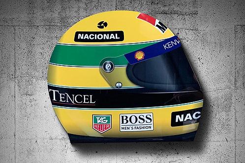 Ayrton Senna MP4 F1 Helmet