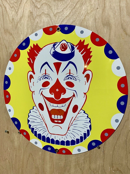 Clown Circus Bozo Vintage Sign