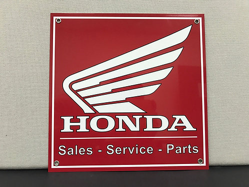 HONDA SALES SERVICE PARTS REPRODUCTION SIGN