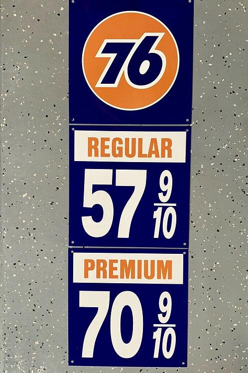 Union 76 REGULAR & PREMIUM - 3 PIECE SIGN