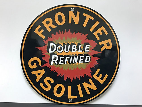 FRONTIER GASOLINE REPRODUCTION SIGN
