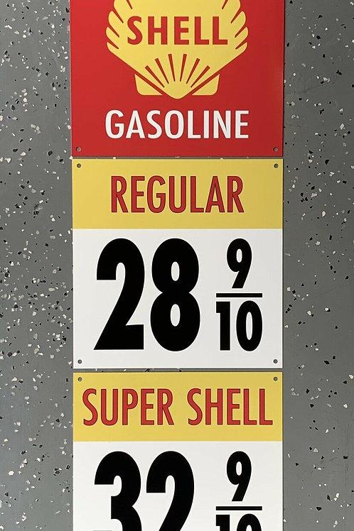 SHELL REGULAR & SUPER - 3 PIECE SIGN