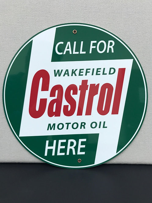 CASTROL MOTOR OIL REPRODUCTION SIGN
