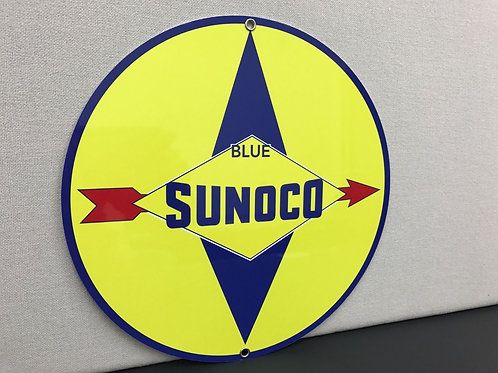 SUNOCO BLUE REPRODUCTION SIGN