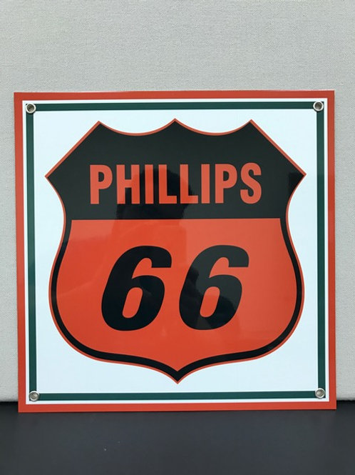 PHILLIPS 66 WHITE REPRODUCTION SIGN