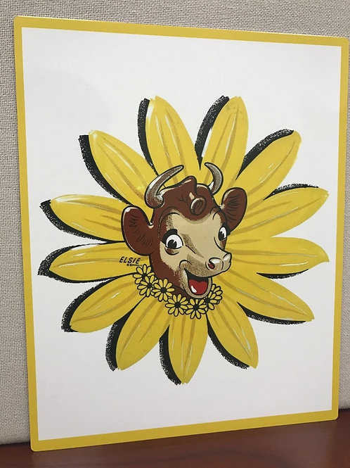 ELSIE THE HAPPY COW REPRODUCTION SIGN
