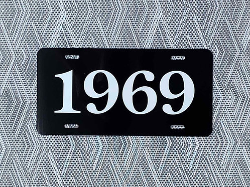 1969 License Plate