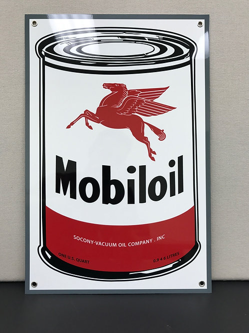 MOBIL OIL CAN REPRODUCTION SIGN
