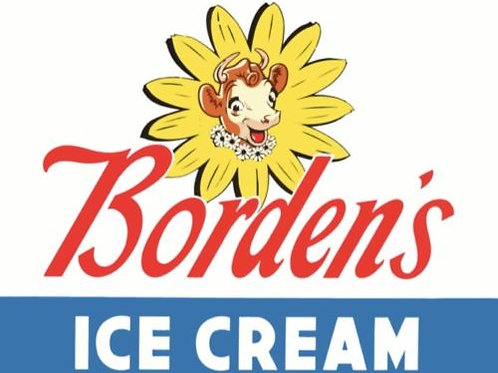 BORDEN'S ICE CREAM REPRODUCTION SIGN