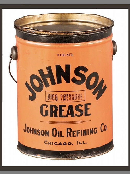 Johnson Grease Vintage Can Sign