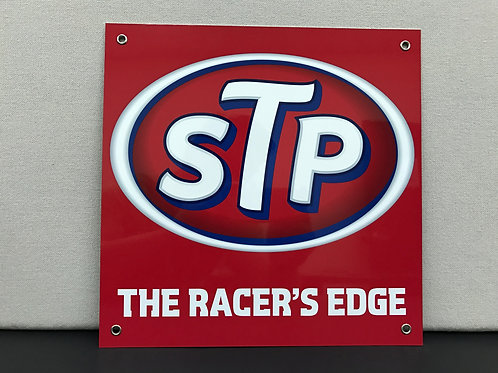STP RACERS EDGE RED REPRODUCTION SIGN