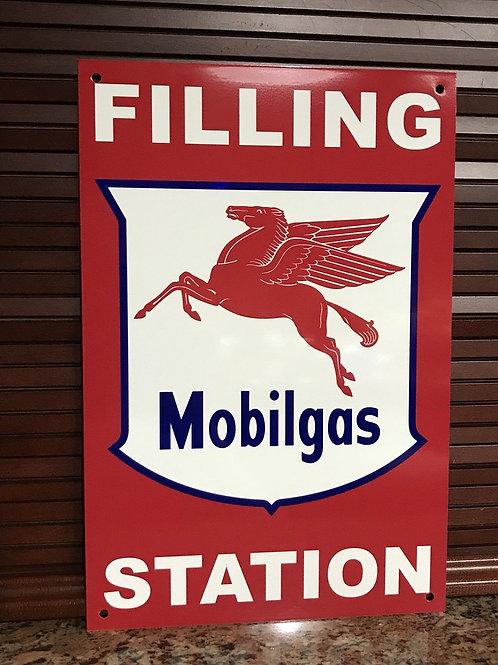 Mobilgas Filling Station Rare Vintage Sign