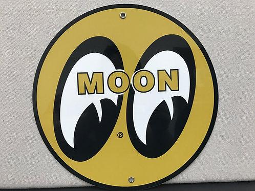 MOON EYES METAL REPRODUCTION SIGN