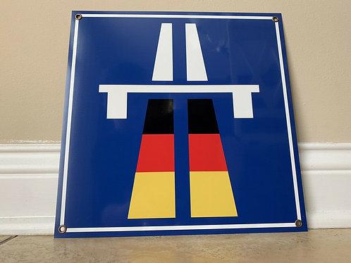 Autobahn Road Sign