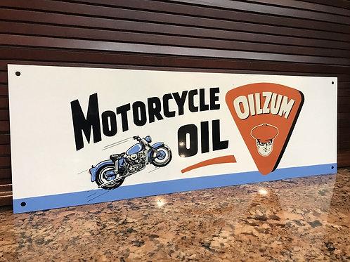 Oilzum Motorcycle Oil Vintage Sign