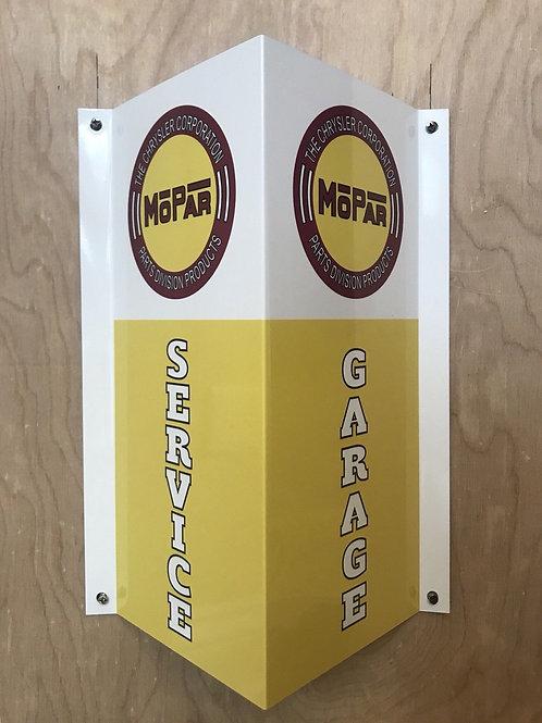 Mopar Garage Service Corner Sign