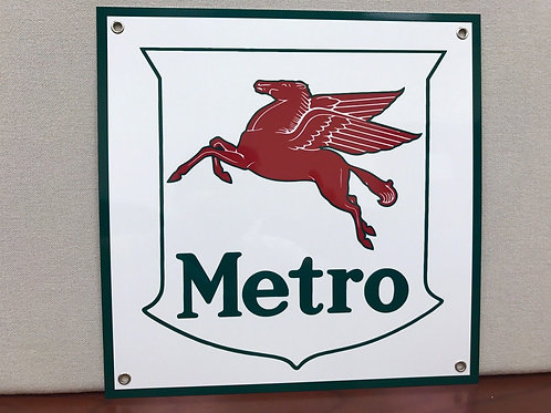 MOBIL METRO REPRODUCTION SIGN