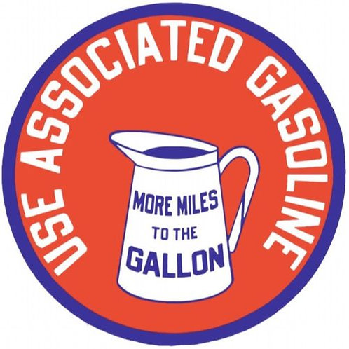 ASSOCIATED GASOLINE REPRODUCTION SIGN