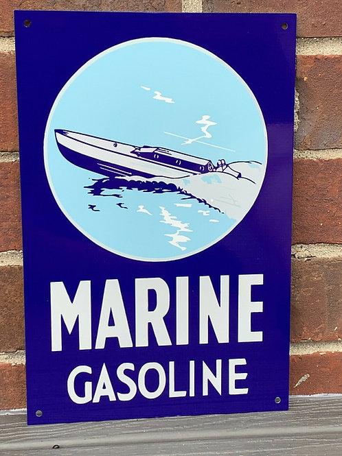 Marine Gasoline Sign