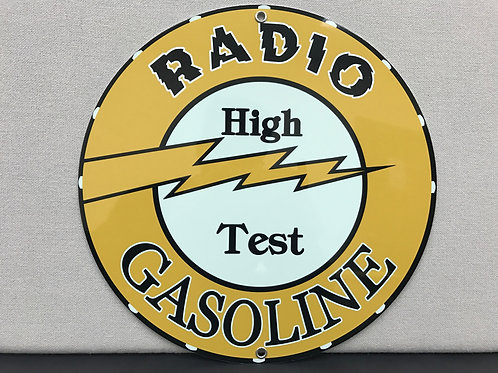 Radio High Test Gasoline Sign Reproduction